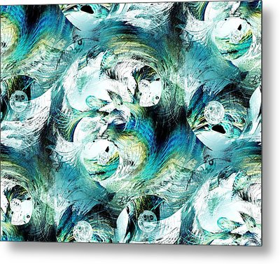 Moonlight Fish Metal Print by Anastasiya Malakhova
