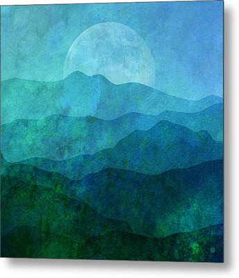 Moonlight Hills Metal Print