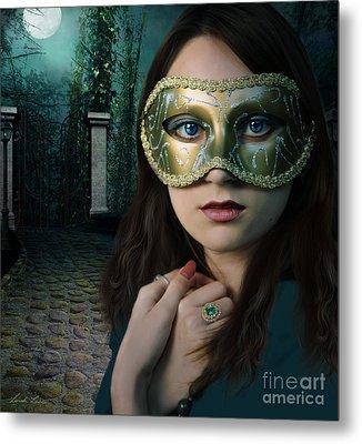 Moonlight Rendezvous Metal Print by Linda Lees