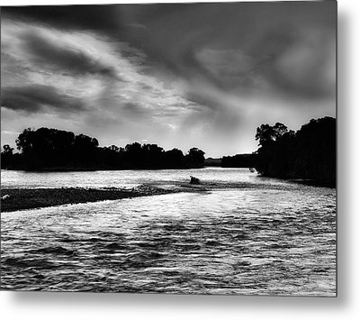 Moonlight River Metal Print by Leland D Howard