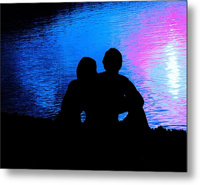 Moonlight Romance Metal Print by Mike Flynn