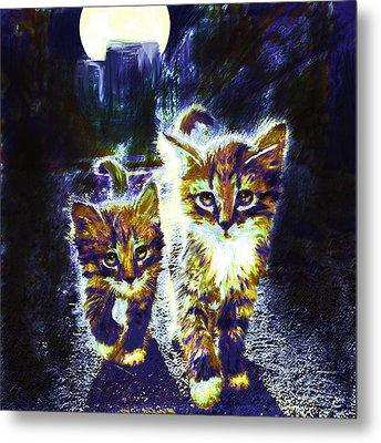 Moonlight Travelers Metal Print by Jane Schnetlage