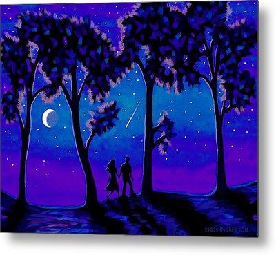 Moonlight Walk Metal Print by Sophia Schmierer