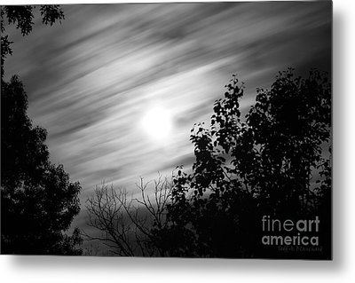 Moonlit Clouds Metal Print