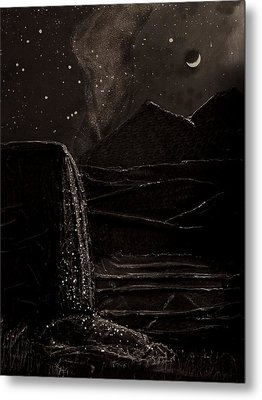 Moonlit Night Metal Print by Angela Stout
