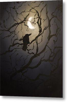 Moonlit Perch Metal Print