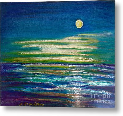 Metal Print featuring the painting Moonlit Tide by D Renee Wilson