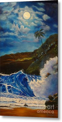 Moonlit Wave 11 Metal Print by Jenny Lee