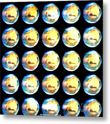 Moonmarbles Metal Print by PainterArtist FIN