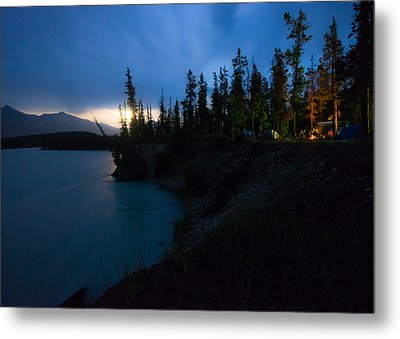 Moonrise At Wabasso Campground Metal Print by Cale Best