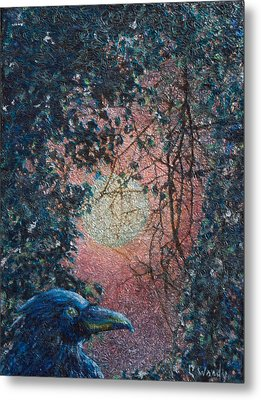 Metal Print featuring the mixed media Moonrise by Carla Woody