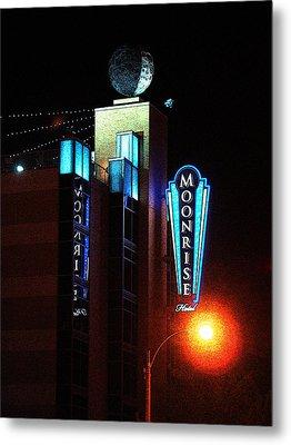 Moonrise Hotel Metal Print by David Blank