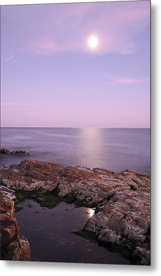 Moonrise In Acadia National Park Metal Print