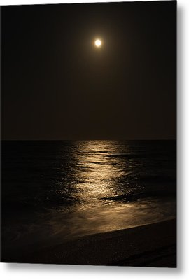 Moon Over Water Metal Print