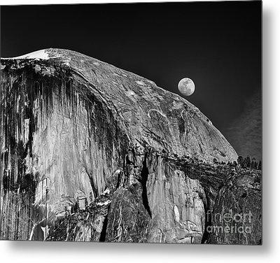 Moonrise Over Half Dome Metal Print