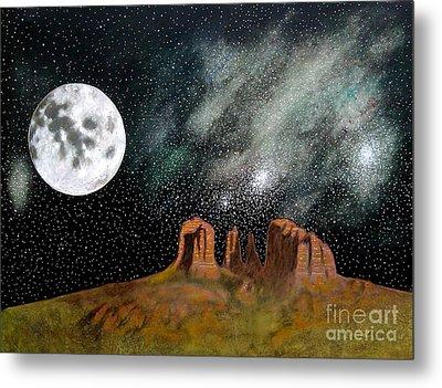 Moonrise Over Sedona Metal Print by John Lyes