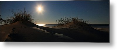 Moonrise Over The Dunes Metal Print by JC Findley