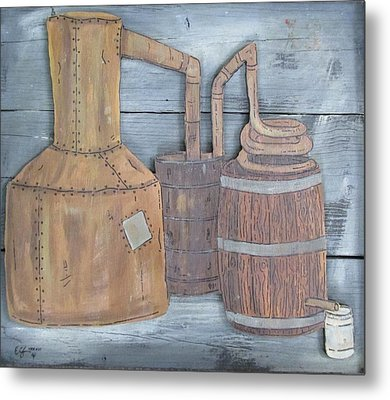 Moonshine Still Metal Print