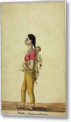 Moor Woman And Child Metal Print