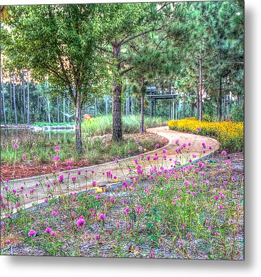 Metal Print featuring the photograph Moore Garden Stroll by Patricia Schaefer