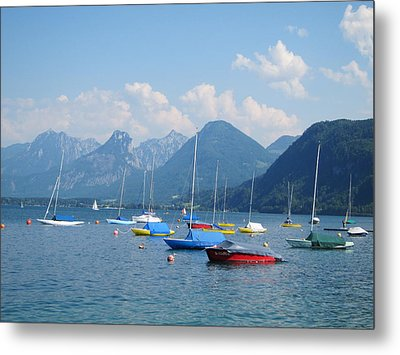 Metal Print featuring the photograph Moored Boats by Pema Hou
