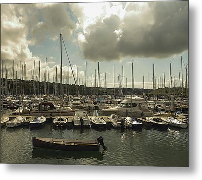 Moored Boats Metal Print