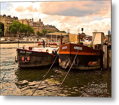 Moored Metal Print by Lauren Leigh Hunter Fine Art Photography
