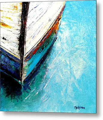 Moored Metal Print by Marti Green