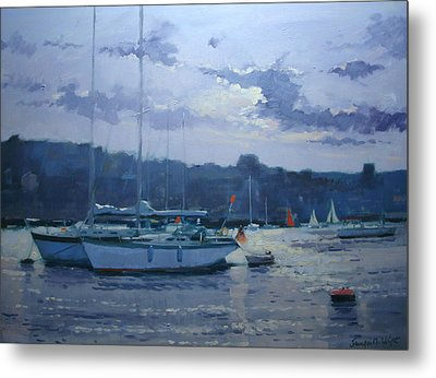 Moored Yachts Metal Print by Jennifer Wright