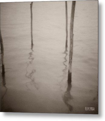 Moorings Venice Metal Print by Beverly Brown