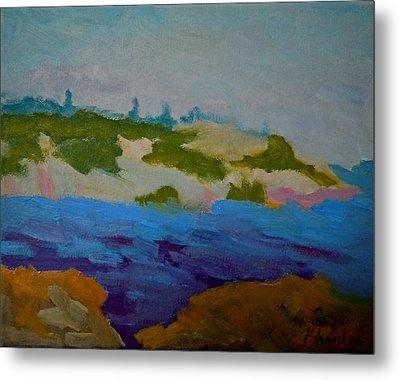 Metal Print featuring the painting Moose Island - Schoodic Peninsula by Francine Frank