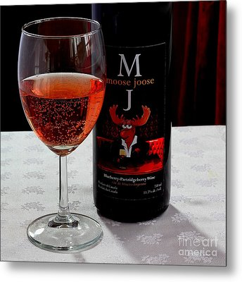 Moose Joose - Blueberry Partridgeberry Wine  Metal Print by Barbara Griffin