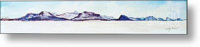 Moosehead Lake View From West Side Of Northeast Carry Metal Print