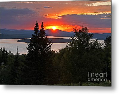 Mooselookmeguntic Sunset Metal Print