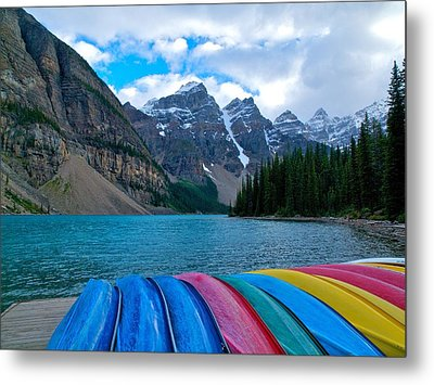 Metal Print featuring the photograph Moraine Lake Calling by Rob Wilson