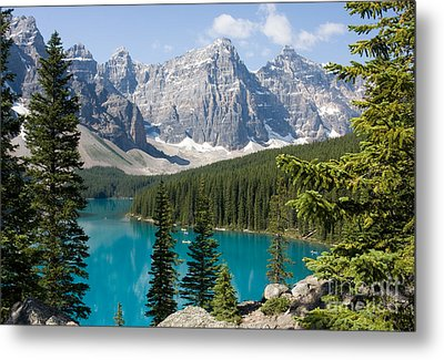 Metal Print featuring the photograph Moraine Lake by Chris Scroggins