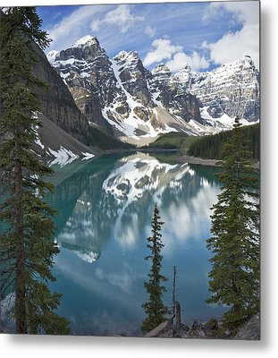 Moraine Lake Overlook Metal Print