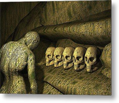 Metal Print featuring the digital art Morbid Vespers by John Alexander