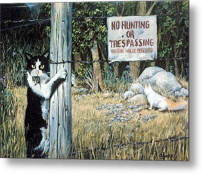 Metal Print featuring the painting More Civil Disobedience by Donna Tucker