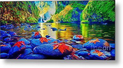 More Realistic Version Metal Print by Catherine Lott
