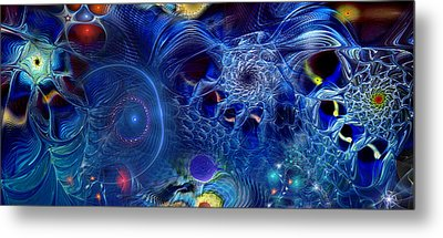 Metal Print featuring the digital art More Things In Heaven And Earth by Casey Kotas