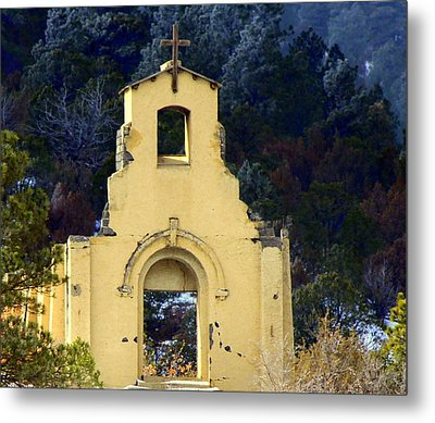 Metal Print featuring the photograph Mountain Mission Church by Barbara Chichester