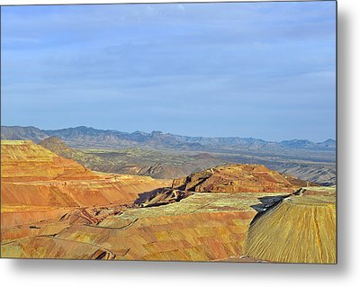 Morenci - A Beauty Of A Copper Mine Metal Print by Christine Till