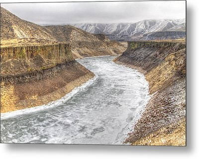 More's Creek Under Ice Metal Print