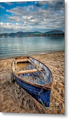 Morfa Nefyn Boat Metal Print by Adrian Evans