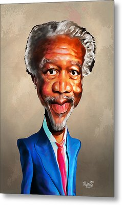 Morgan Freeman Metal Print by Anthony Mwangi