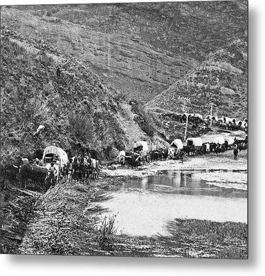 Mormon Emigrant Conestoga Caravan 1879 - To Utah Metal Print by Daniel Hagerman