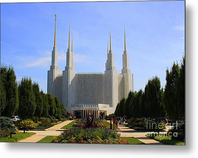 Mormon Temple Dc Metal Print by Patti Whitten