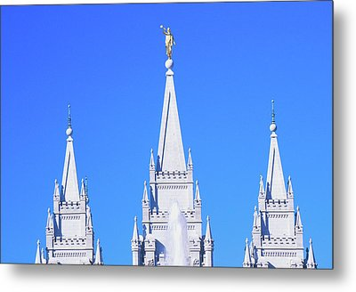 Mormon Temple In Salt Lake City Utah Metal Print