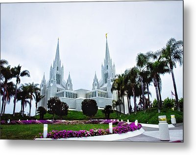 Mormon Temple La Jolla Metal Print by Joseph Hollingsworth